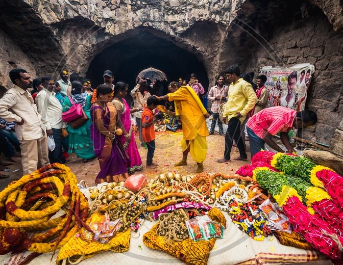 Bonalu at Golkonda Fort