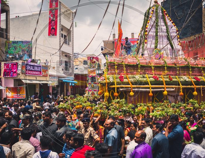 Bonalu at Mahankali Temple
