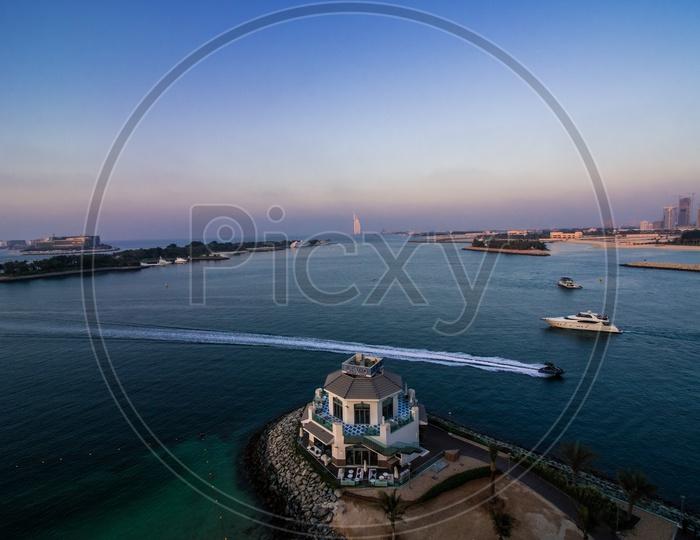 Tourist Boats near Burj Al Arab