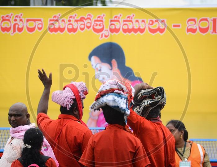 Bhavani deeksha during Dussehra festival