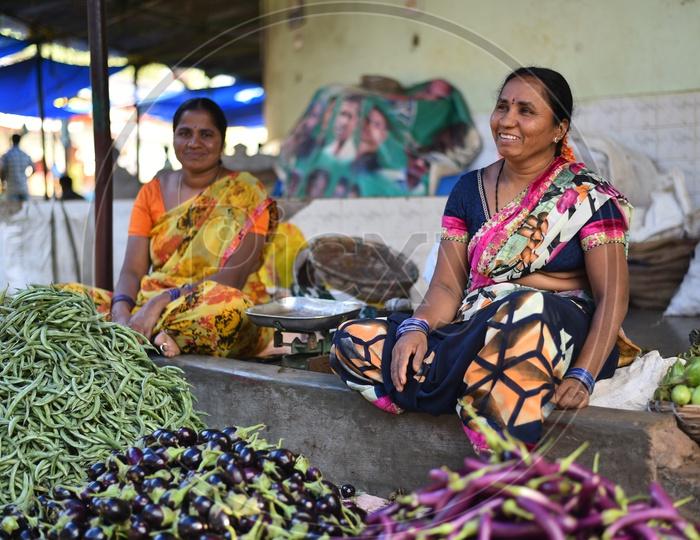 Vegetable Sellers at Local Market/Rythu Bazar