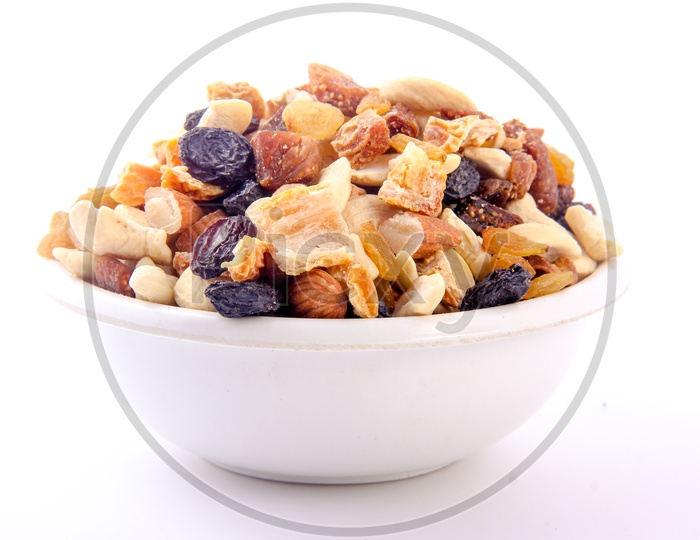 Mixed Dry Fruits in Bowl