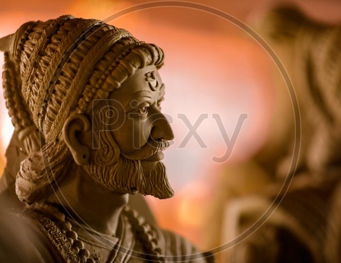 Indian King Chhatrapati Shivaji Maharaj Sculpture