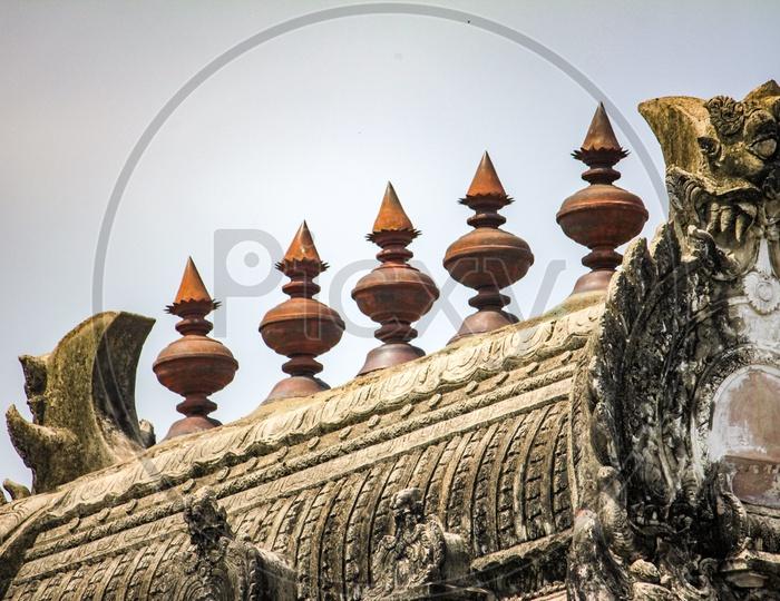 Temple Gopuram at The Descent of the Ganges in Mahabalipuram
