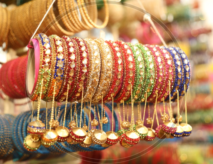 Colorful bangles on the streets near Charminar