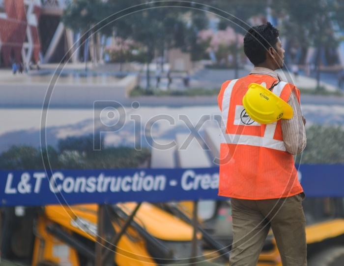 Construction workers, Amaravathi constructions, L & T worker