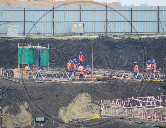 Construction workers, Amaravathi constructions, New secretariat