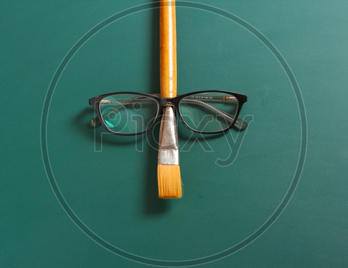 Happy Teacher Day Concept and Eye wears