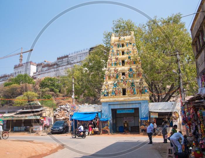 Main Street of Yadagiri Gutta Temple