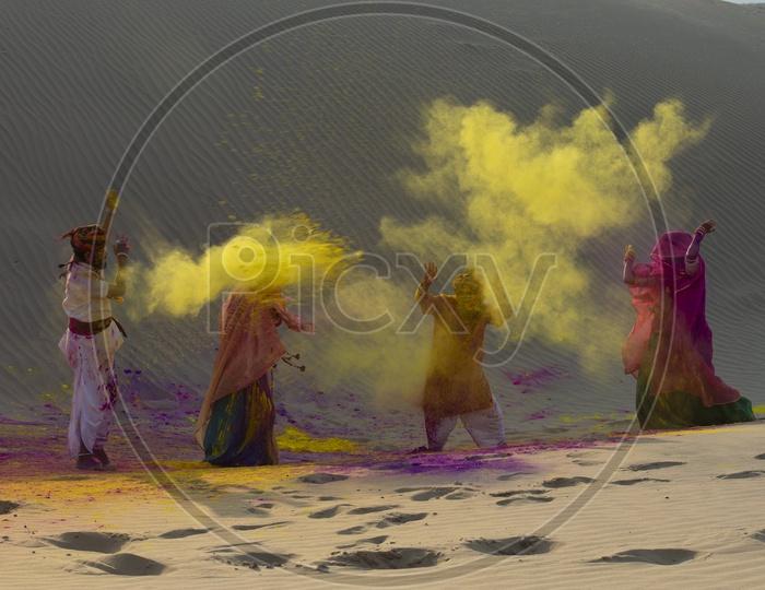 Holi Festival Celebrations in Thar Desert