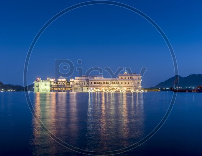 Night View of Udaipur Palace