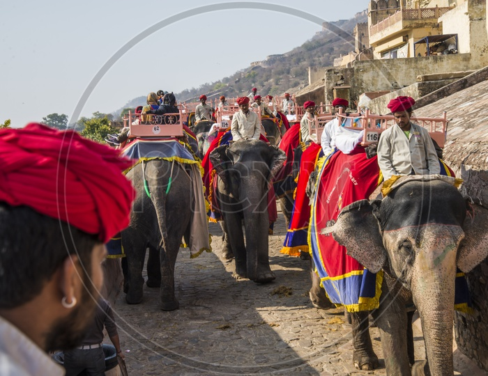 Elephant ride in Amer or Amber Fort, Jaipur