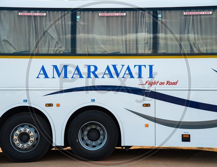 Amaravati Bus Service..AC Volvo Bus.