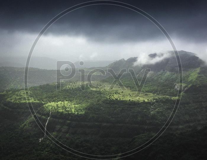 Beautiful Landscapes of Lion's point, Lonavala
