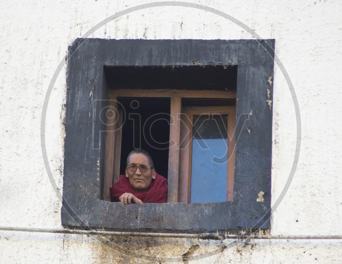 Buddhist Monk at Key Monastery, Spiti Valley