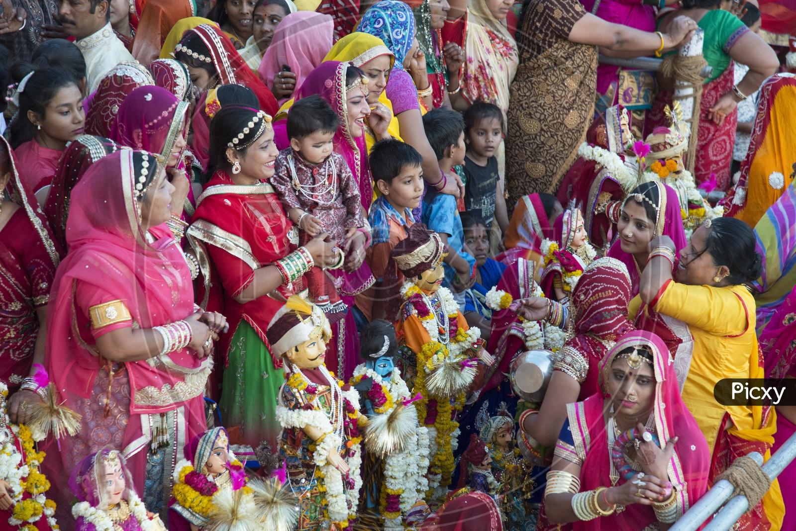 Rajasthani Women at Mewar Gangaur Festival, Udaipur