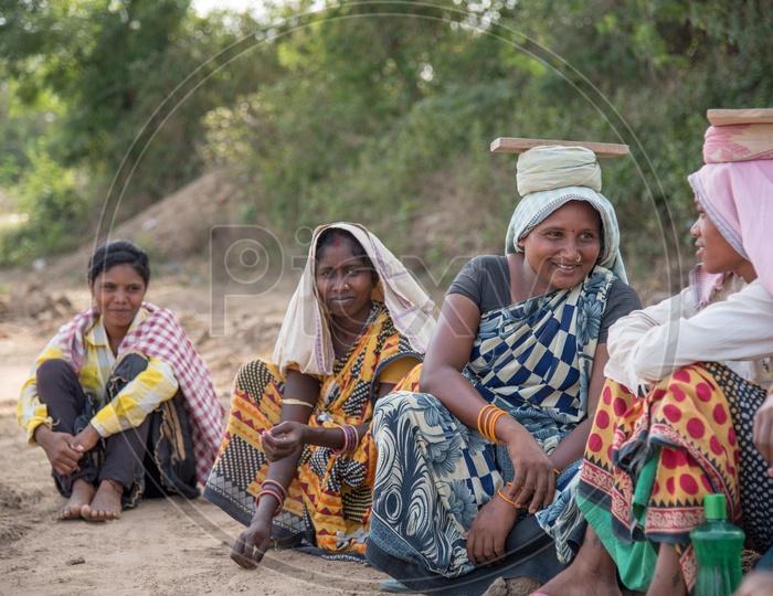 Women of Odisha at a Brick Kiln.