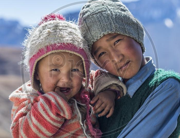 Kids from Hikkim Village, Spiti Valley