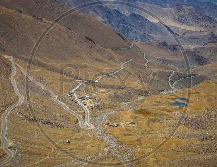 Twisted ghat Roads in Leh Ladakh Area