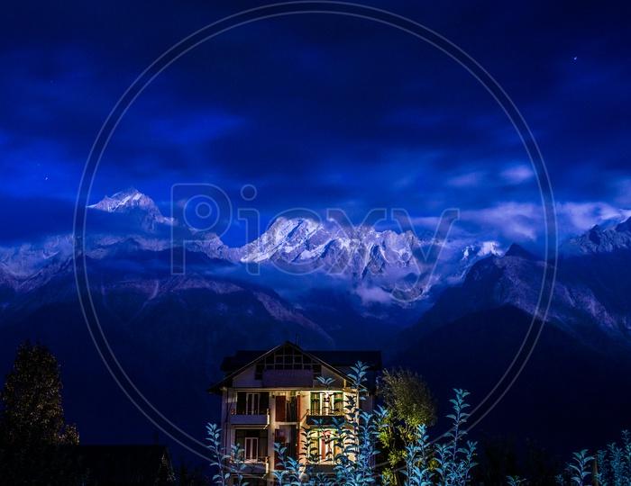 View of Kalpa, Himachal Pradesh