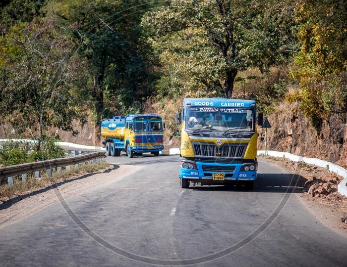 trucks in eastern ghats