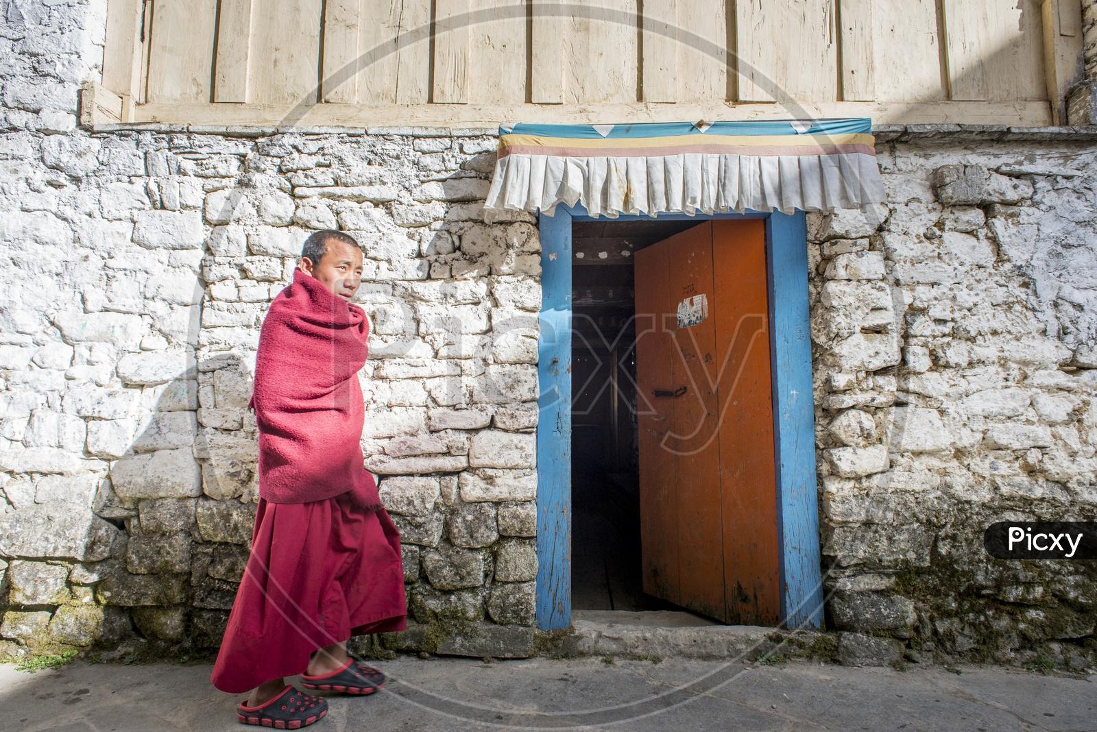 Buddhist Monk at Tawang Monastery