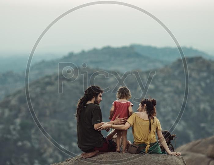 Happy Family in Hampi