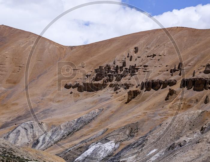 Natural Rock Formations, Manali to Leh Highway