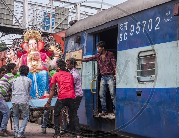 Ganapati Visarjan in Hyderabad