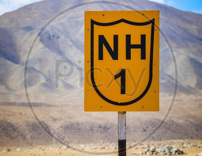 NH1, National Highway 1.