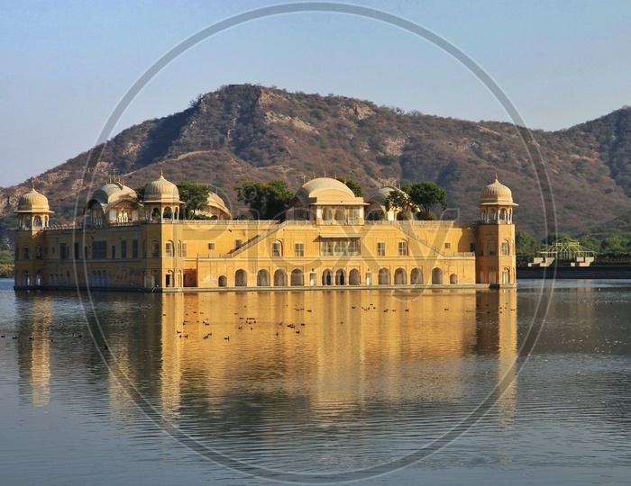 Jal mahal in Rajasthan.