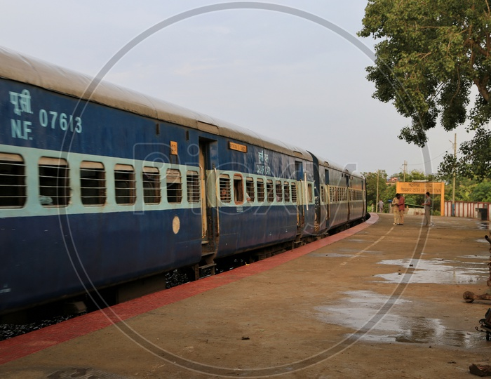 Railway station in Assam.