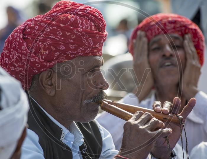 Rajasthani men in Traditional Turban at Soda Village, Jaipur