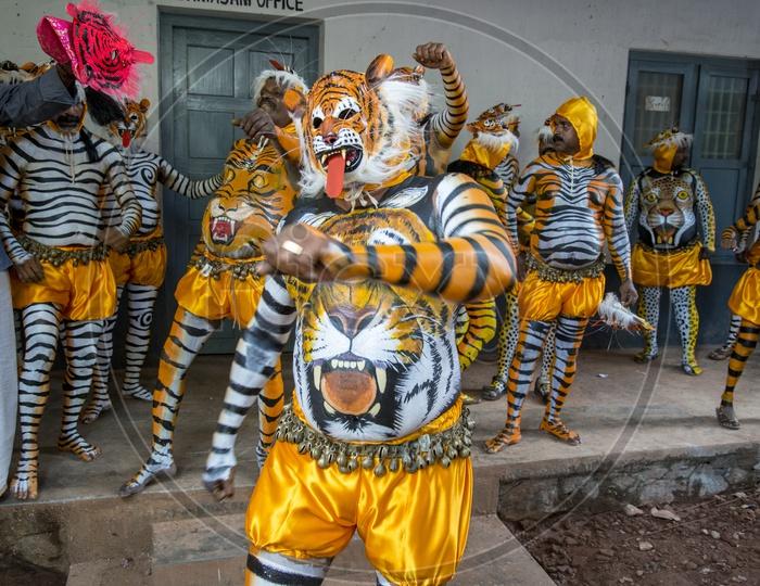 Pulikali Dance, Thrissur