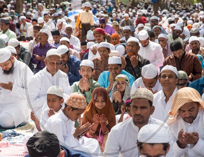 Eid prayers during Ramdan