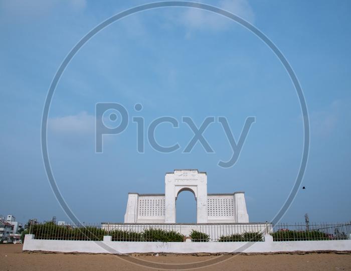 Karl Schmidt Memorial, Elliots Beach, Besant Nagar, Chennai, Tamil Nadu, India