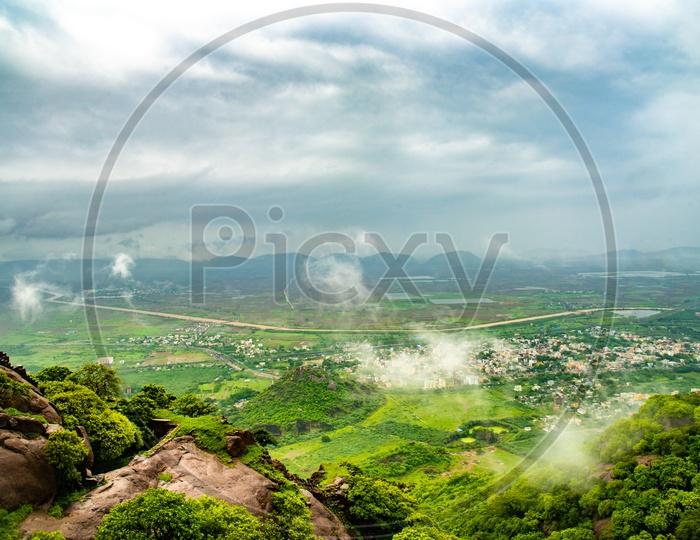 A view of hill range at Kondapalli/mulapadu area as seen from Kondapalli Peak.