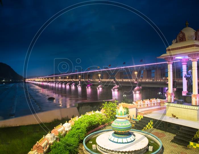 Prakasam Barrage, Vijayawada, Andhra Pradesh, India