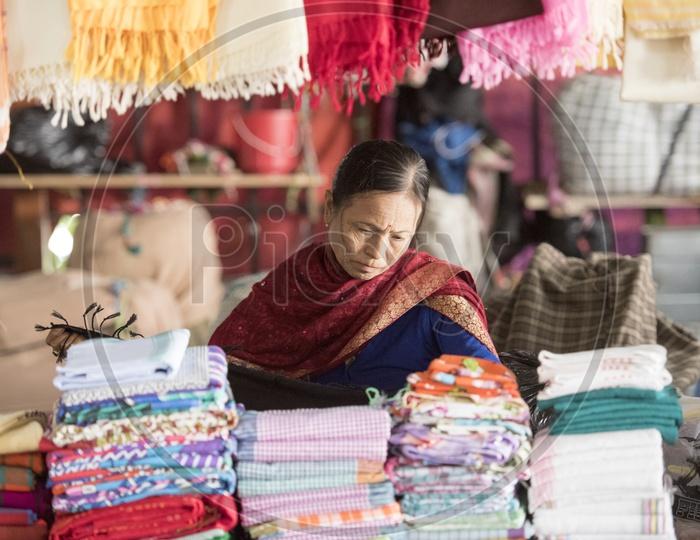 Female Vendor at Ema Market, Manipur