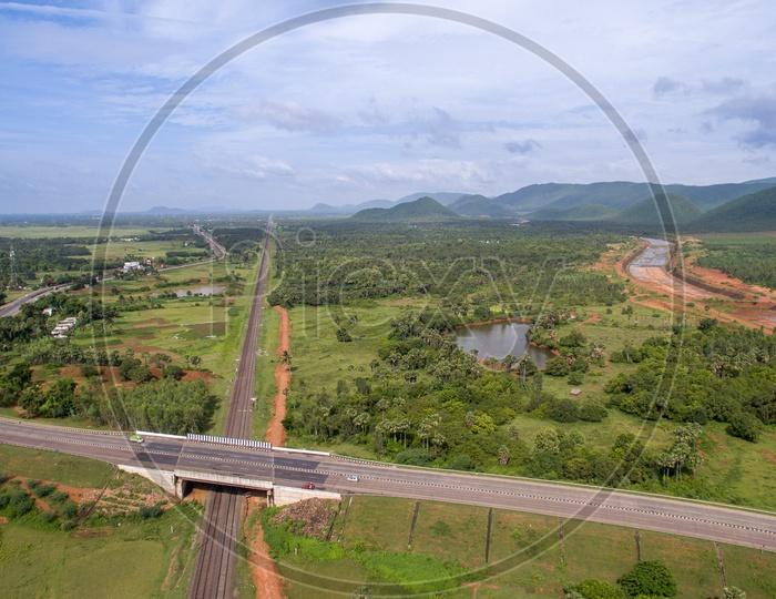 national highway and railway