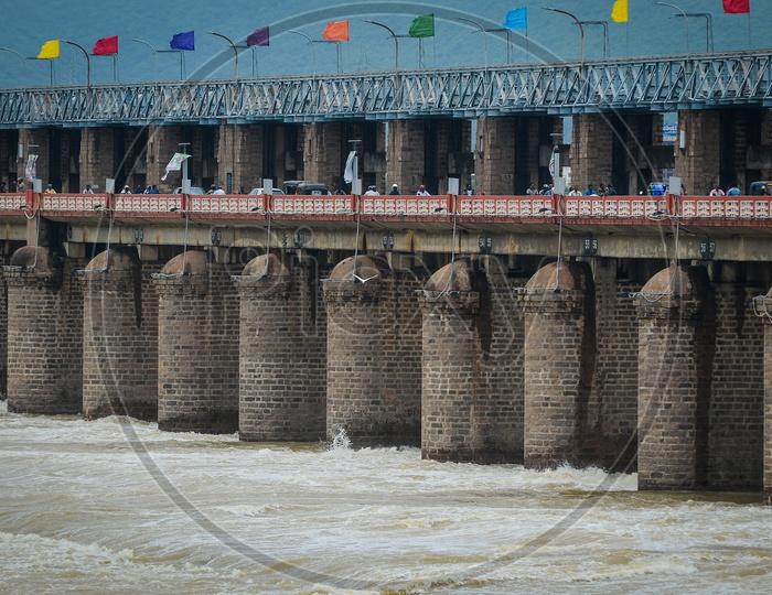 Prakasam barrage, Krishna river