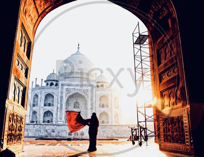 Taj mahal and its serenity
