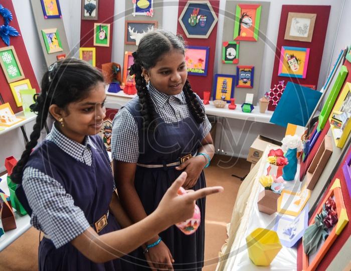 School children, Science fair
