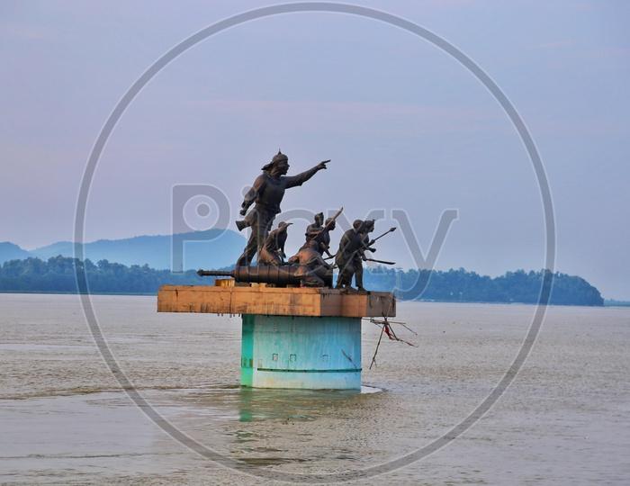 Statue in Brahmaputra River