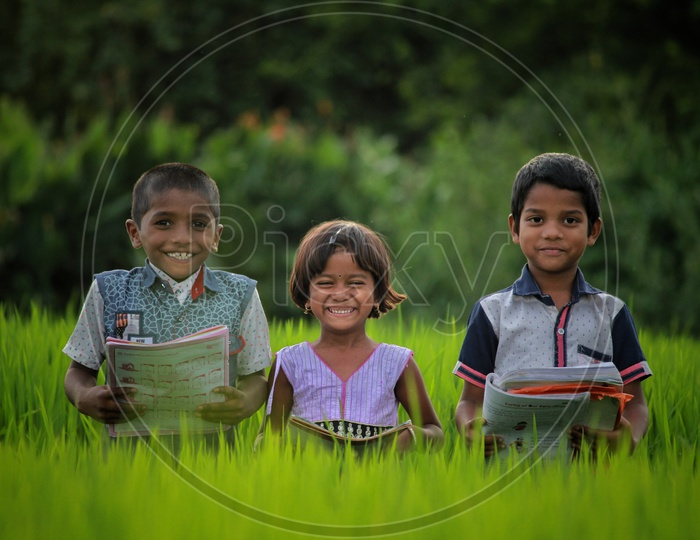 Study time.. Smiling Students Kids