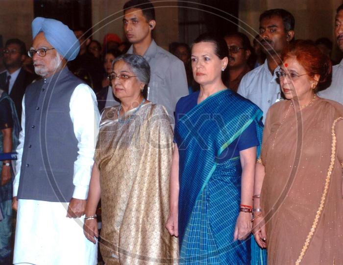 Former Prime Minister Manmohan Singh with Sonia Gandhi