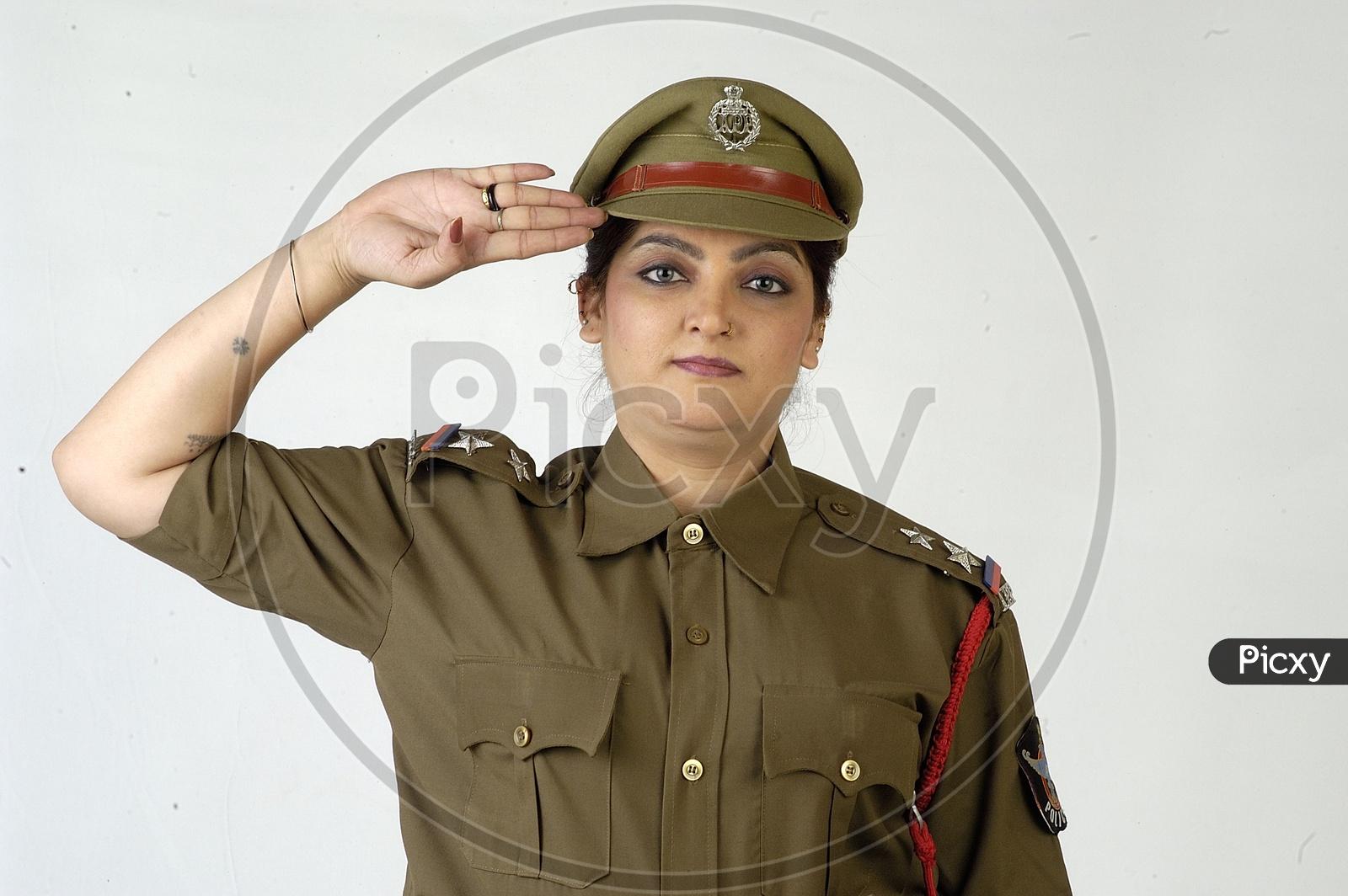 Indian Female Police Model