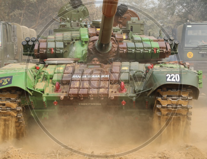 Indian Army Battle Tank T-90 Bhishma
