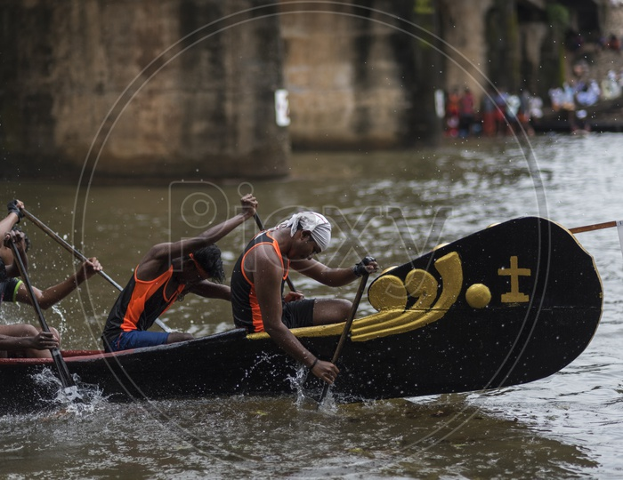 Boat team's participating  in the Payippad Boat race