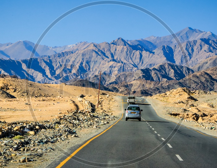Highways in Leh and Mountains